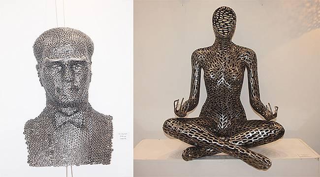 Cıvata ve somunlar Norm ile sanat eserine dönüştü