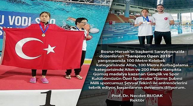 Ege'nin en özel sporcusundan 2 altın 1 gümüş madalya