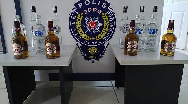 Foça'da Kaçak İçki Operasyonu