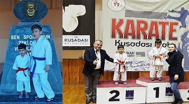 Foçalı Karateci Kardeşler Kuşadası'nda Madalyaları Topladılar!