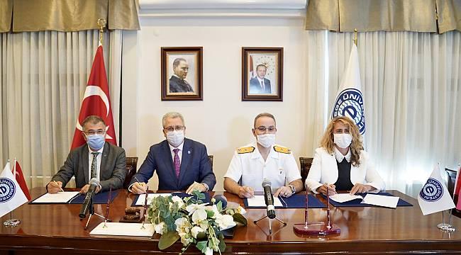 EÜ ile Amfibi Deniz Piyade Tugay Komutanlığı arasında işbirliği protokolü imzalandı