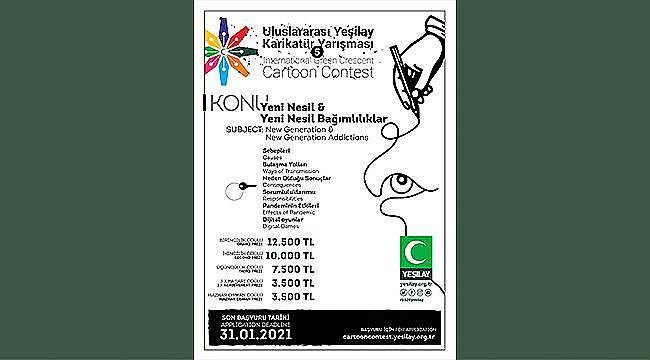 5. Uluslararası Yeşilay Karikatür Yarışması için başvurular başladı