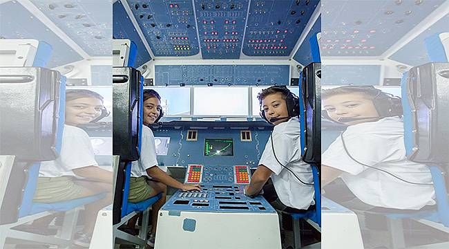 Uzay meraklıları yarıyıl tatilinde uzay macerası yaşadı