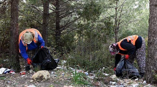 Aliağa Belediyesi'nden Orman Temizliği