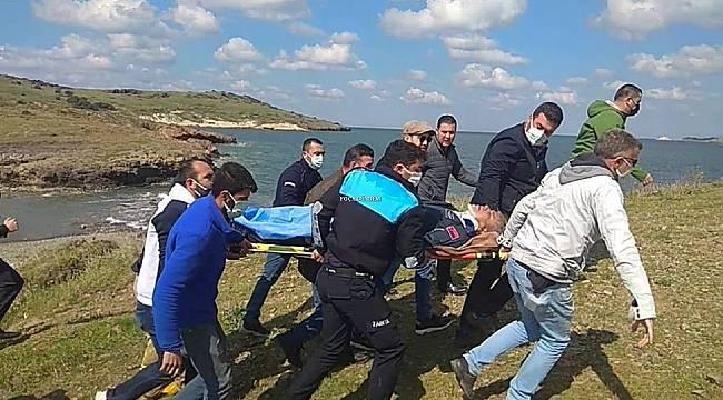 Foça'da askeri uçak düştü! 2 pilot sağ kurtuldu