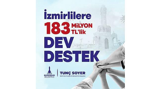 İzmir Büyükşehir Belediyesinden 183 milyon liralık pandemi desteği