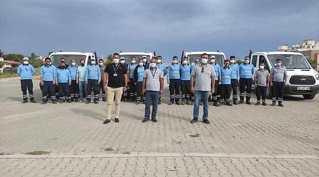 İzmir Büyükşehir'den turistik merkezlerde larva mücadelesi