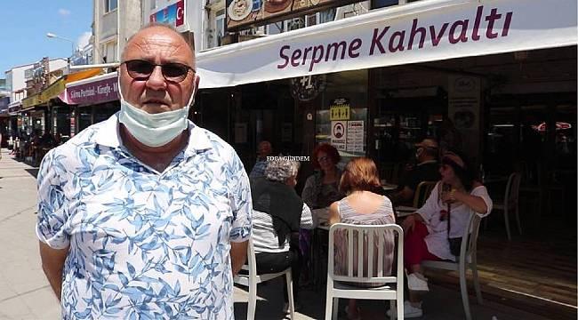 Foça'da restoran ve kafeler açıldı, yüzler gülmeye başladı
