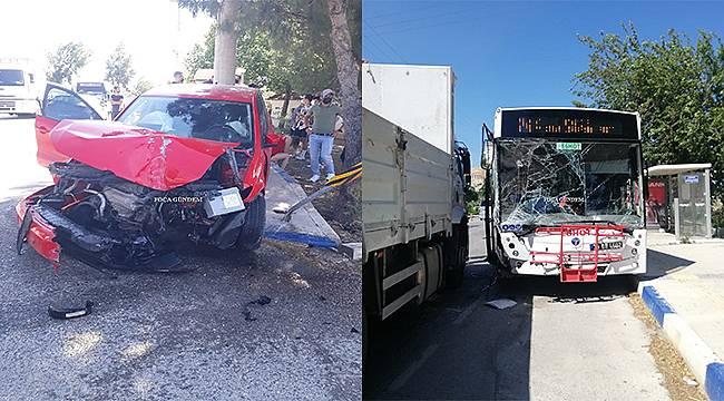 Foça'da trafik kazası