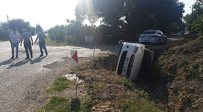 Foça Ilıpınar'da trafik kazası
