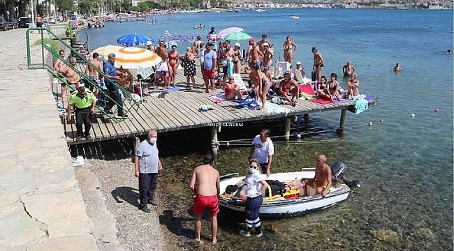 Foça'da engelli vatandaş akülü arabasıyla 30 metrelik uçurumdan denize uçtu