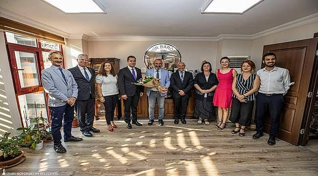 Başkan Soyer İzmir Barosu Başkanı Özkan Yücel'i ziyaret etti