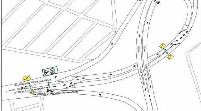 İzmir'in Mürselpaşa Bulvarı'nda trafik düzenlemesi